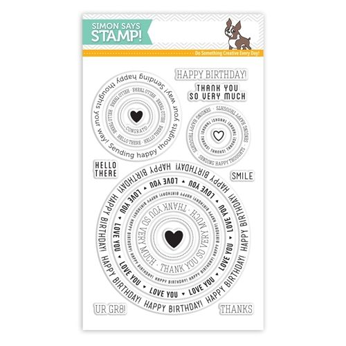 Simon Says Clear Stamps CIRCLE SAYINGS sss101512 Falling For You at Simon Says STAMP!  $14.99
