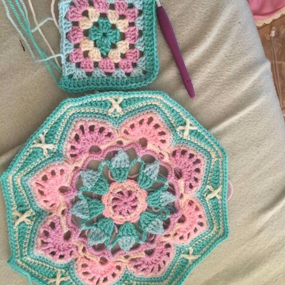 Pin de Hega en CROCHET: squares and rounds | Pinterest | Tapices ...