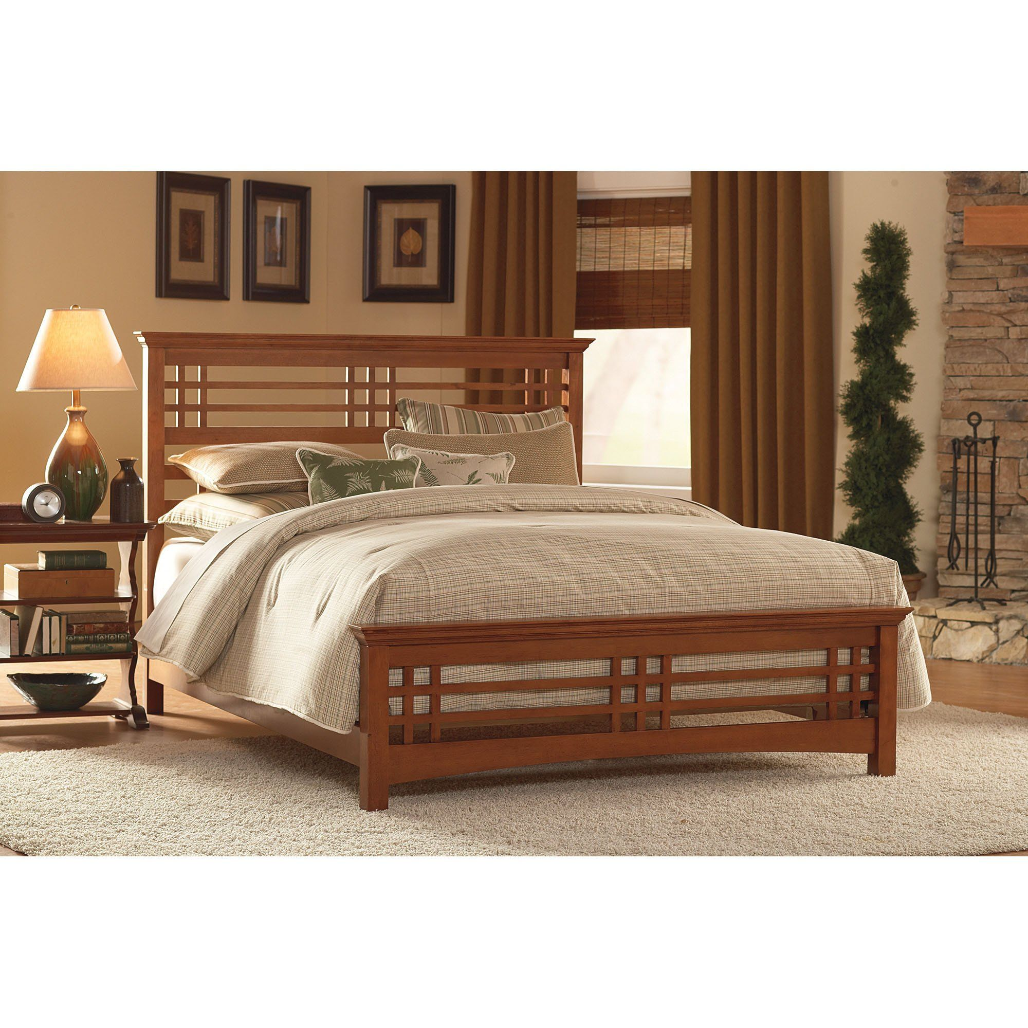 Avery Complete Bed with Wood Frame and Mission Style