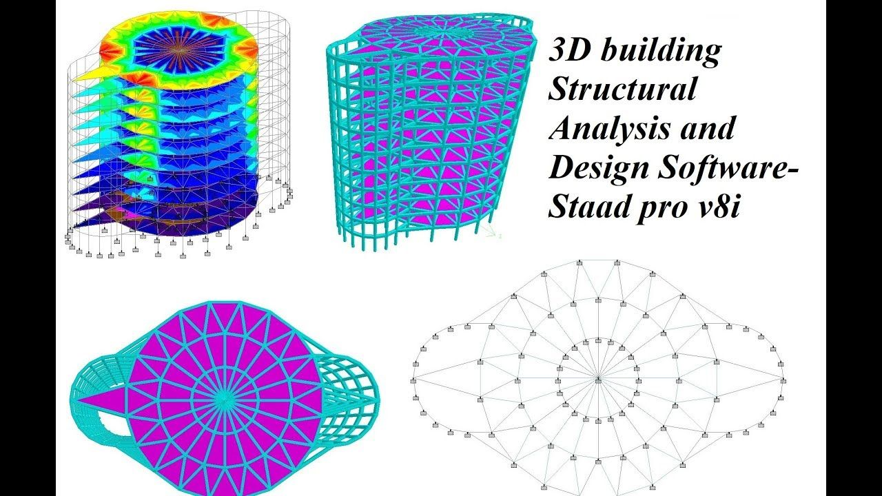 3d Building Structural Analysis And Design Software Staad Pro V8i Https Youtu Be Aoebjr7mg8m Software Design Structural Analysis Civil Engineering Software