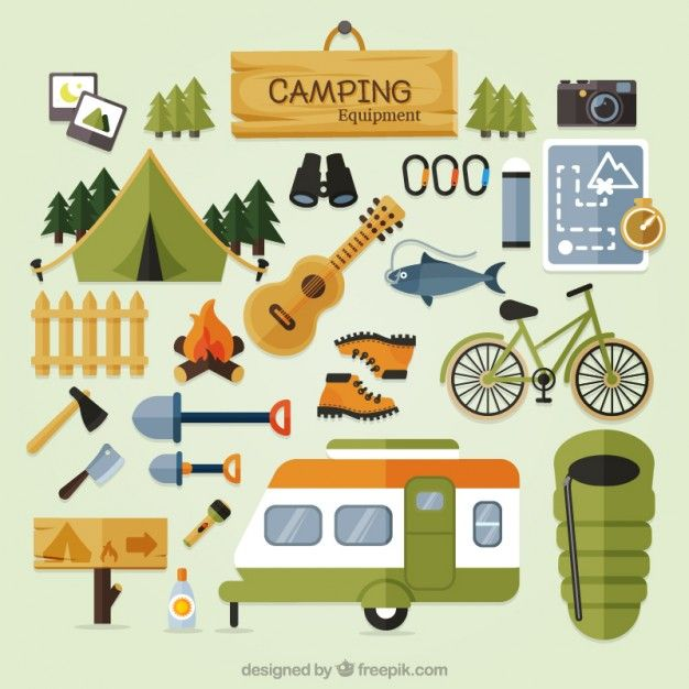 Clip Art Cute Camping Equipment