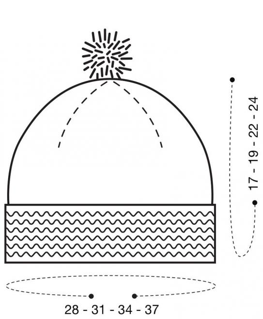schémas tricot bonnet pour bébé #crochetforbaby #crochet #