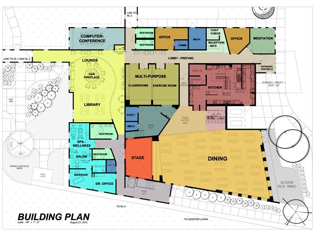 Community center floor plan common house floor plans pinterest architecture and exterior for Subdivision planning and design