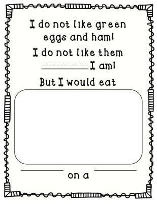 Green Eggs and Ham FREEBIE from Perfectly Preschool on