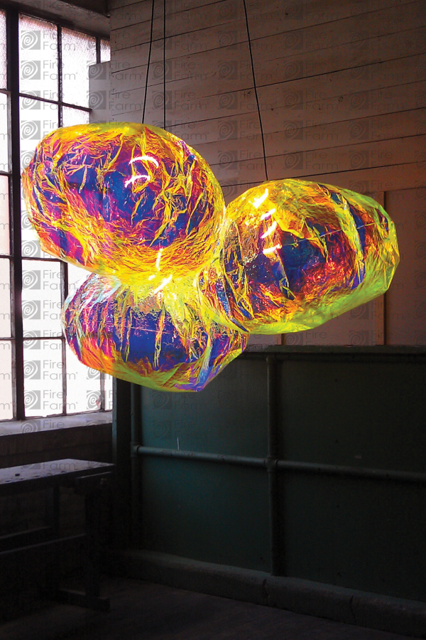 Astropuff Chandelier Fire Farm Lighting Made Out Of Dichroic