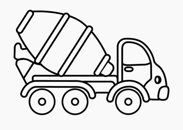 Cement Mixer Truck Transportation Coloring Pages Concrete For Kids