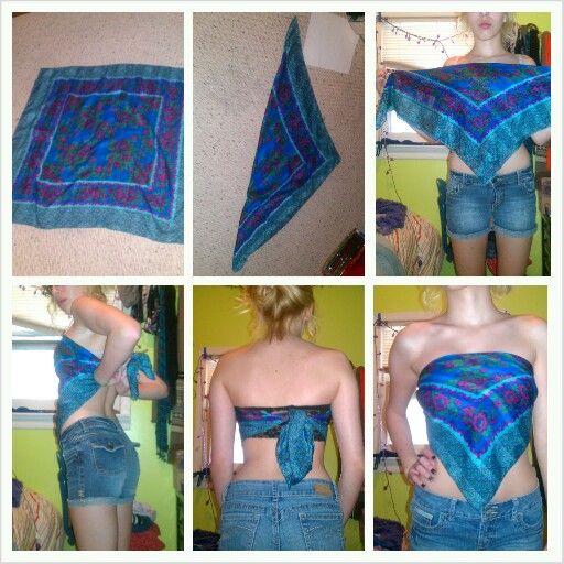 Diy Bandana Shirt For Summer Diy Sewing Clothes Upcycle Clothes Diy Clothes