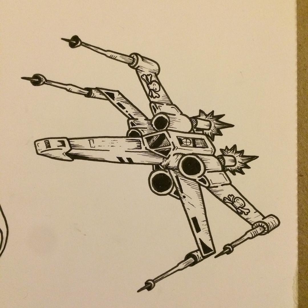 David Bruce On Instagram X Wing Fighter Sketch Drawing Pendrawing Starwars Tattoo Tattooideas Sci Star Wars Tattoo Star Wars Drawings Tattoo Star Wars