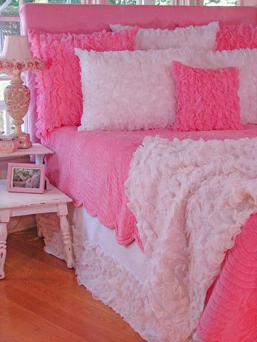 Hot Pink Bedroom: Pink Velvet Quilt Contemporary Kids Bedding