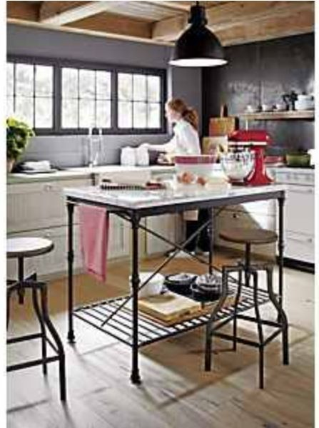 Delightful French Kitchen Island (to Be Used As Dining Table)   Crate And Barrel You