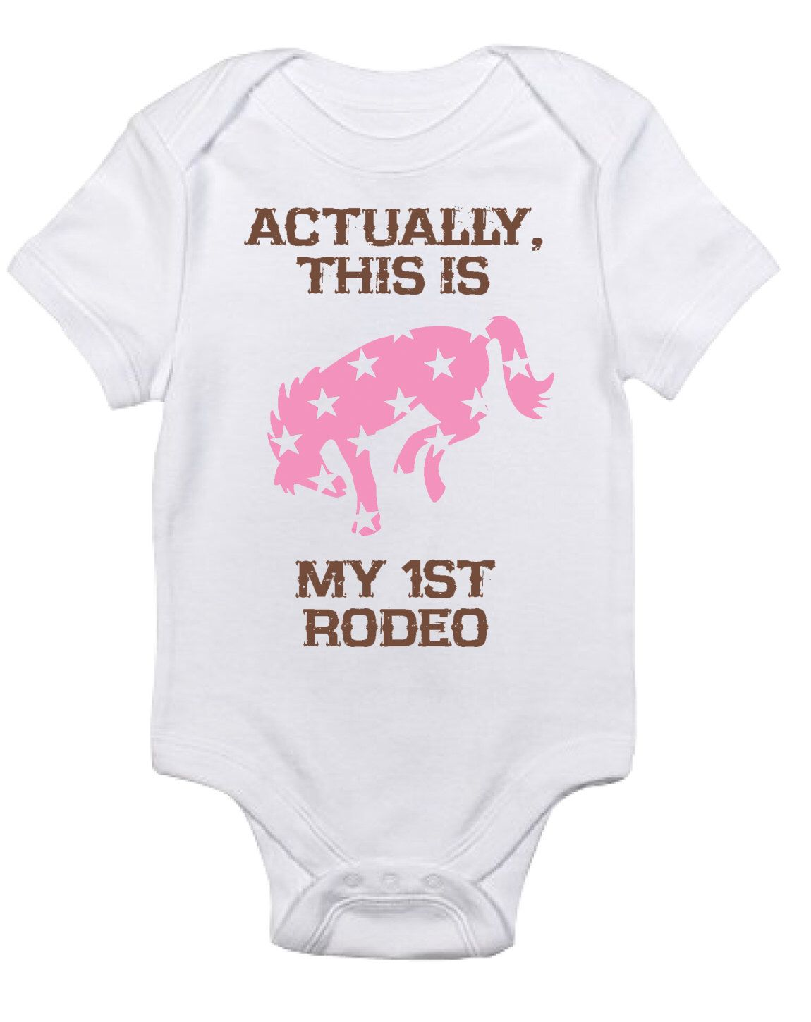 Short Sleeve Horse Bodysuit for Infant Boys Girls and Surprises Equestrian Creations This Baby Needs a Pony