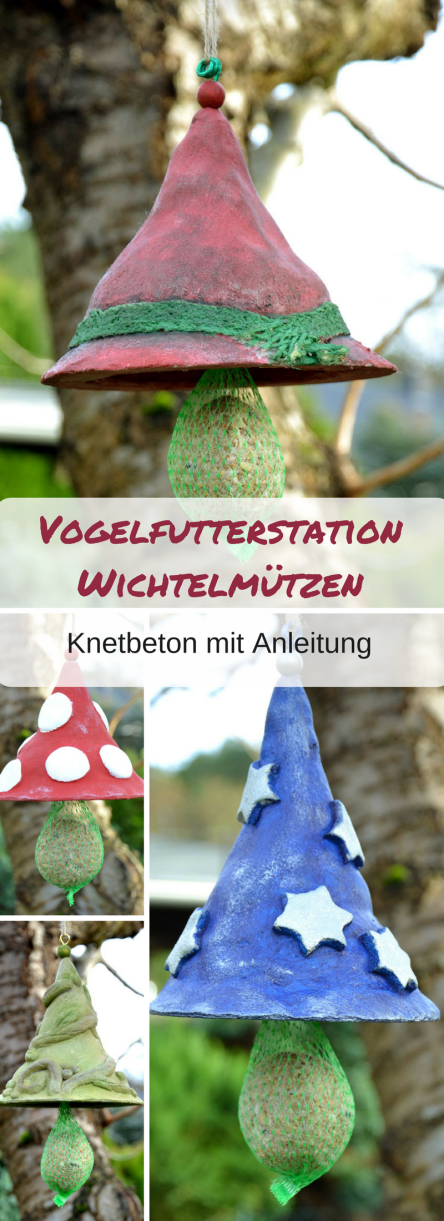 Photo of Gut behütet: Wichtelmützen aus Knetbeton