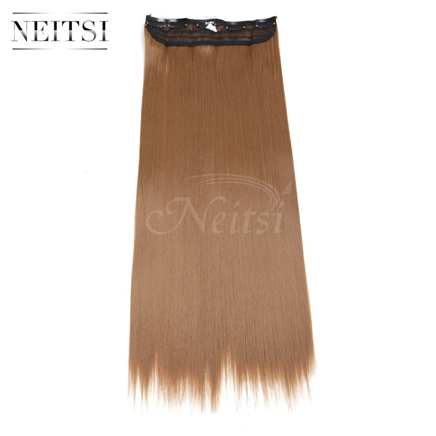 Neitsi 22 27 5clips Synthetic Clip In On Hair Weft Extensions