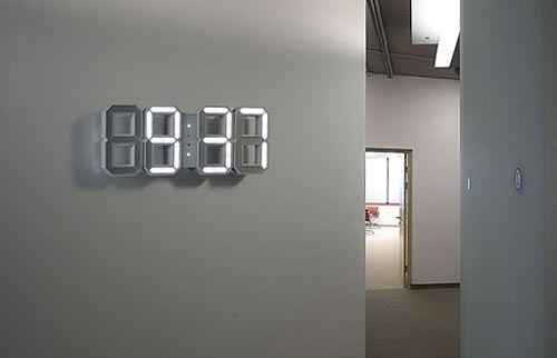 Digital wall clock... want.