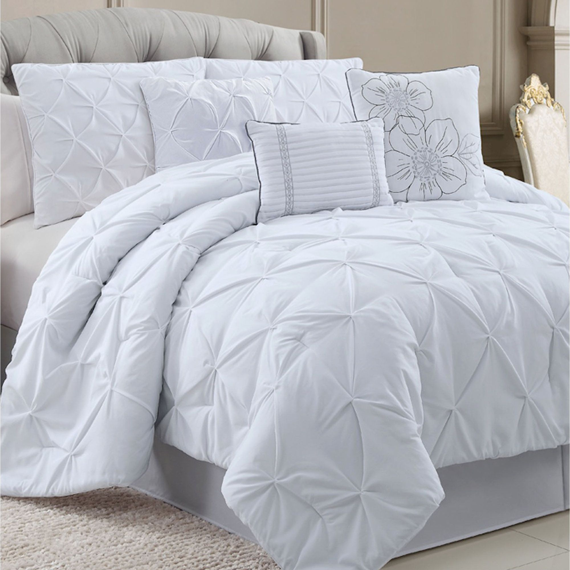solid park madison overstock bedding piece today cotton shipping bath franchesca product printed color set comforter free