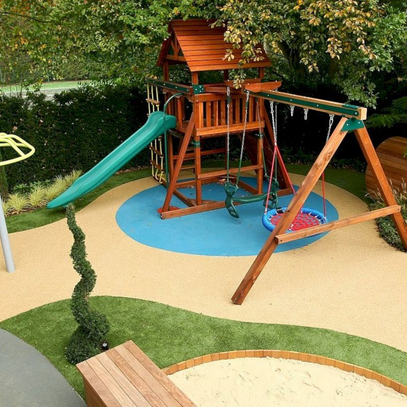 46 Frontyard Garden Design Ideas For Kids Playground Garden And