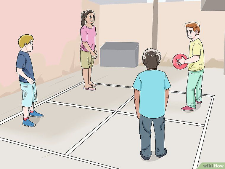 How To Play Four Square Four Square Outside Games For Kids Recess Games