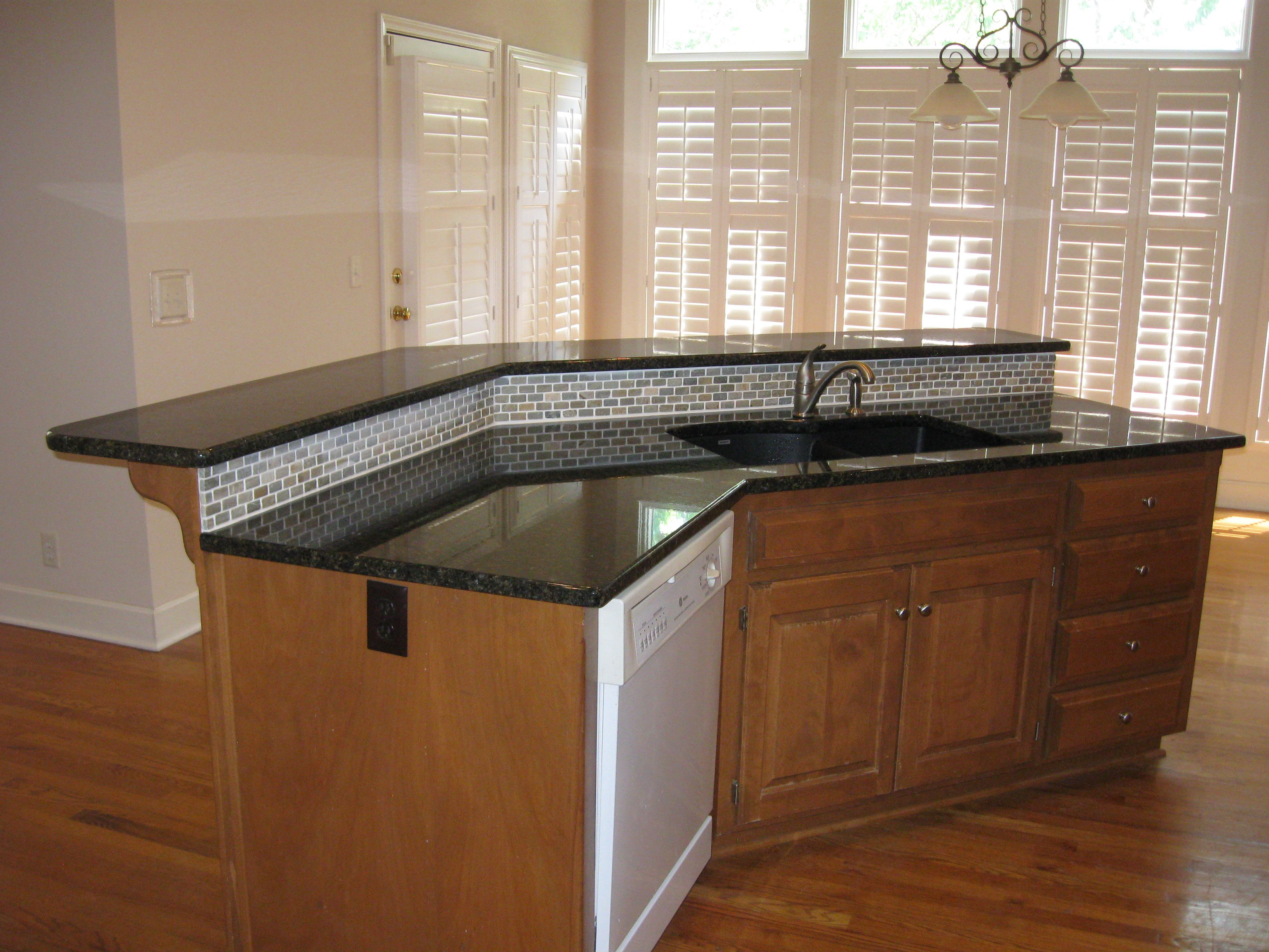 Kitchen Island With Sink And Bar how to extend countertop for bar - yahoo image search results