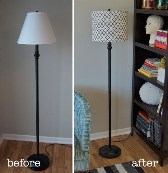 How To Turn a Tapered Lamp Shade into a Drum Shade | Drum shade ...