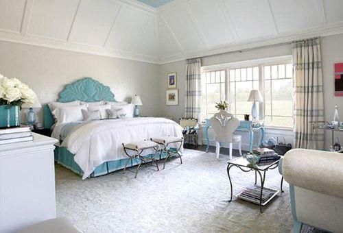 Like The White Comforter And Turquise Bottom Also Headboard Grey Bedroom Design Bedroom Design Beautiful Bedroom Designs Turquoise and white pearl bedroom