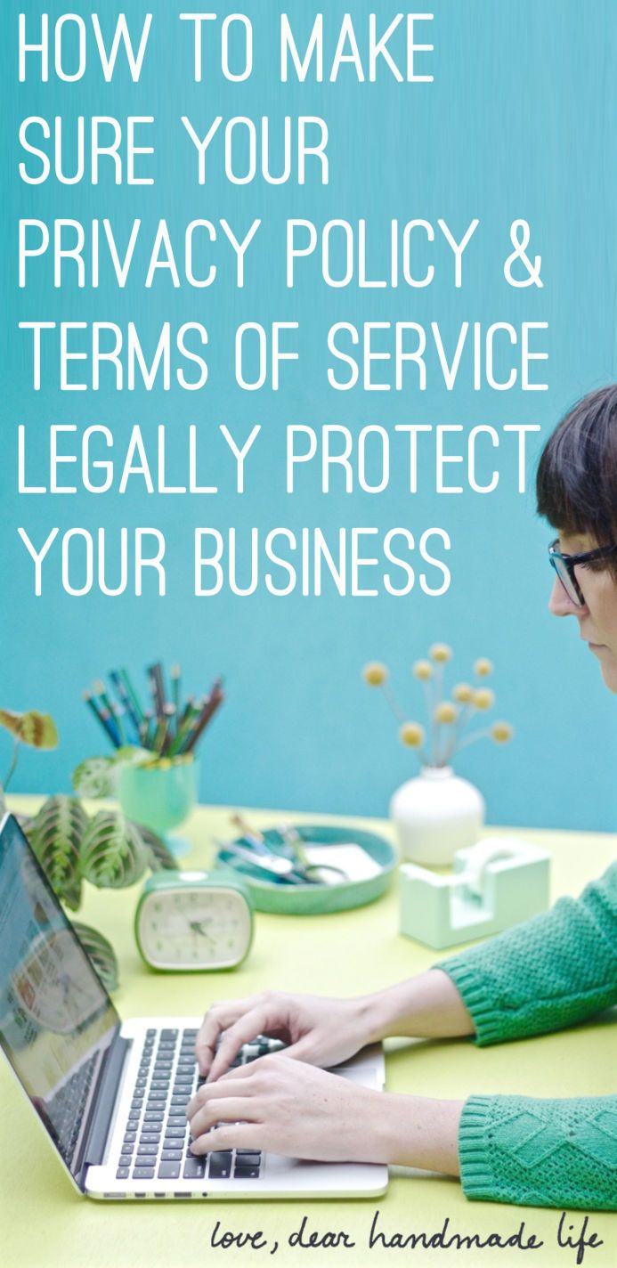 How to write terms of service and a privacy policy that
