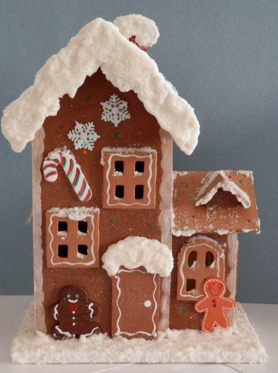 Wooden Gingerbread House Bird House Christmas Winter Gingerbread House Gingerbread Bird House