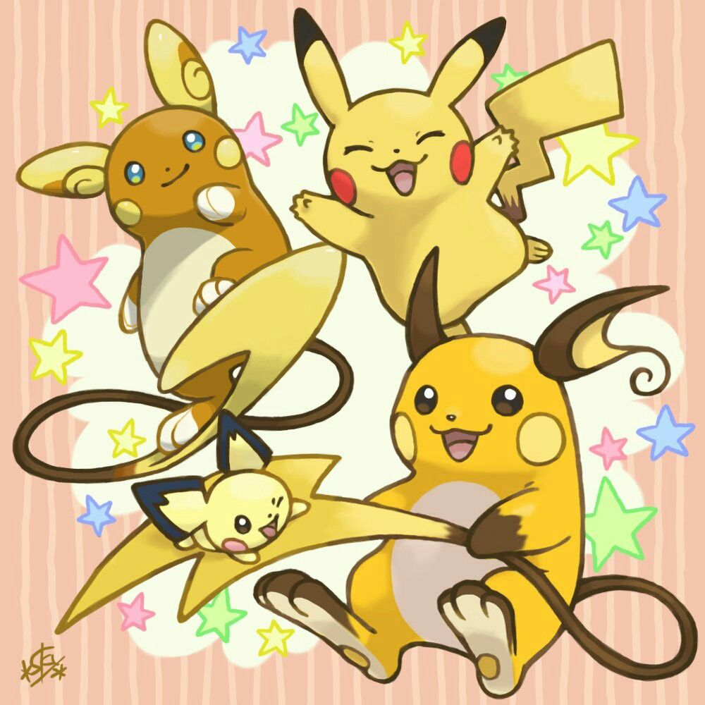 Pikachu Family Pikachu Pikachu Evolution Pikachu Raichu
