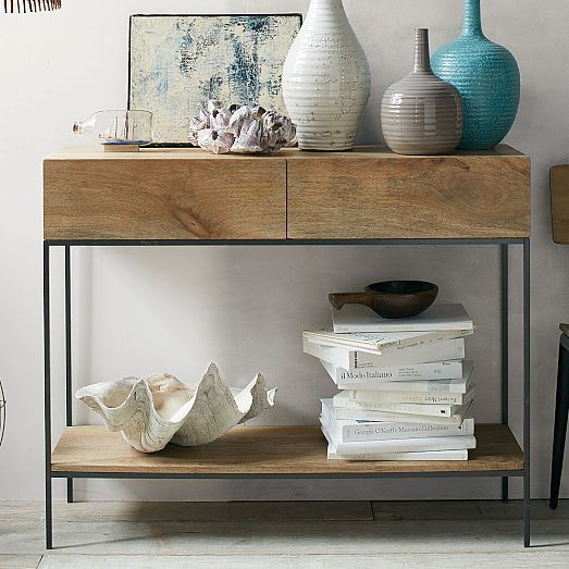Industrial Storage Console Entrance Hall Tables Industrial Storage Rustic Storage
