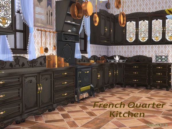 French Quarter Kitchen The Sims 4 Download Gluppr Sims