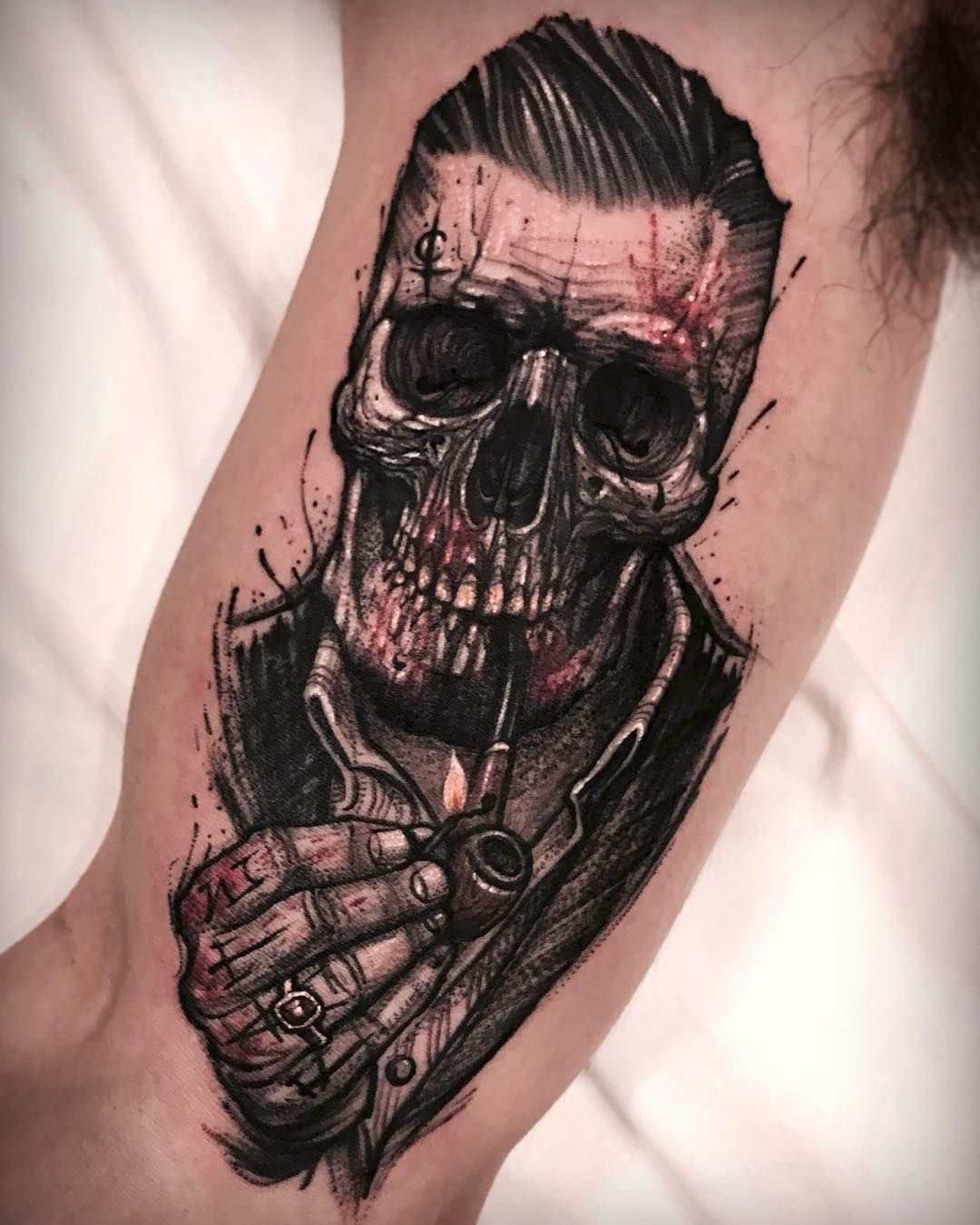 skull gang tattoos on men pinterest tattoo ideen totenk pfe und kunst designs. Black Bedroom Furniture Sets. Home Design Ideas