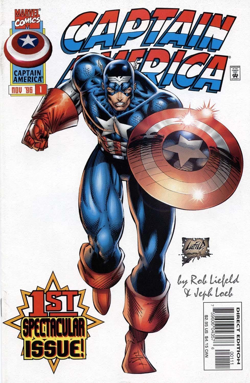 Captain America #1 Jusko Variant Marvel NM Comics Book