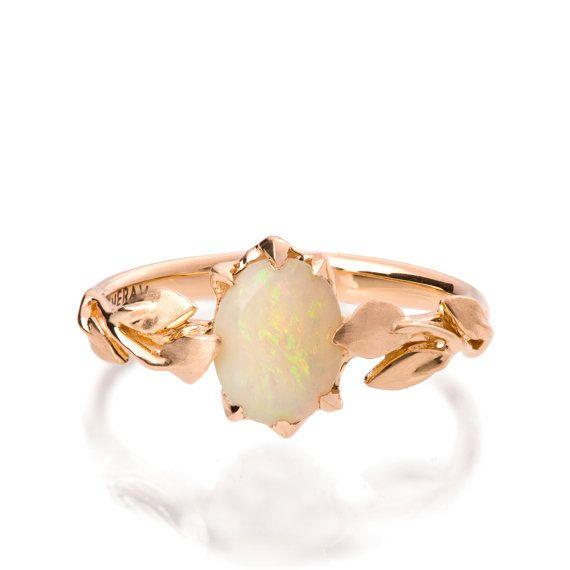 25dbd3b9f31bb9 Opal engagement ring Opal ring Opal 18K Rose by DoronMeravWeddings ...