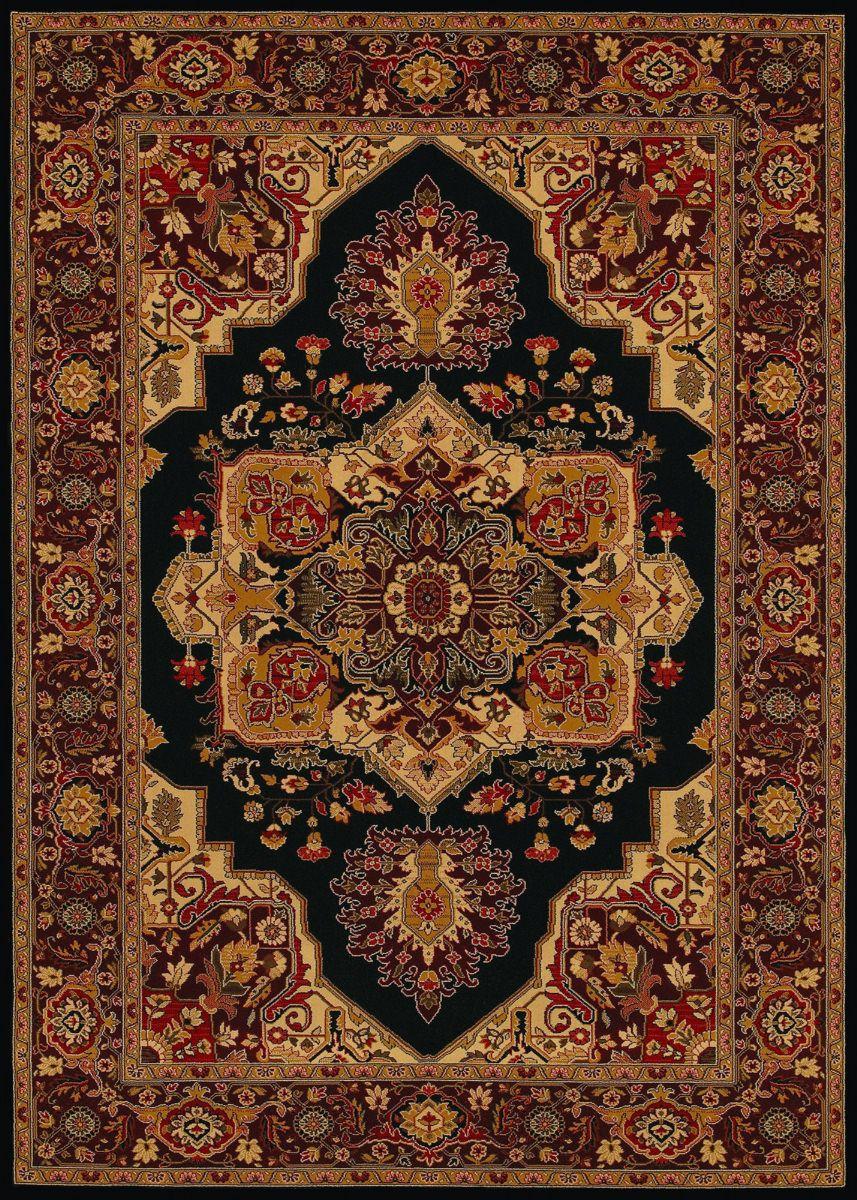 Couristan Everest Antique Sarouk Black 172802 Area Rug Black Area Rugs Persian Rug Designs Area Rugs