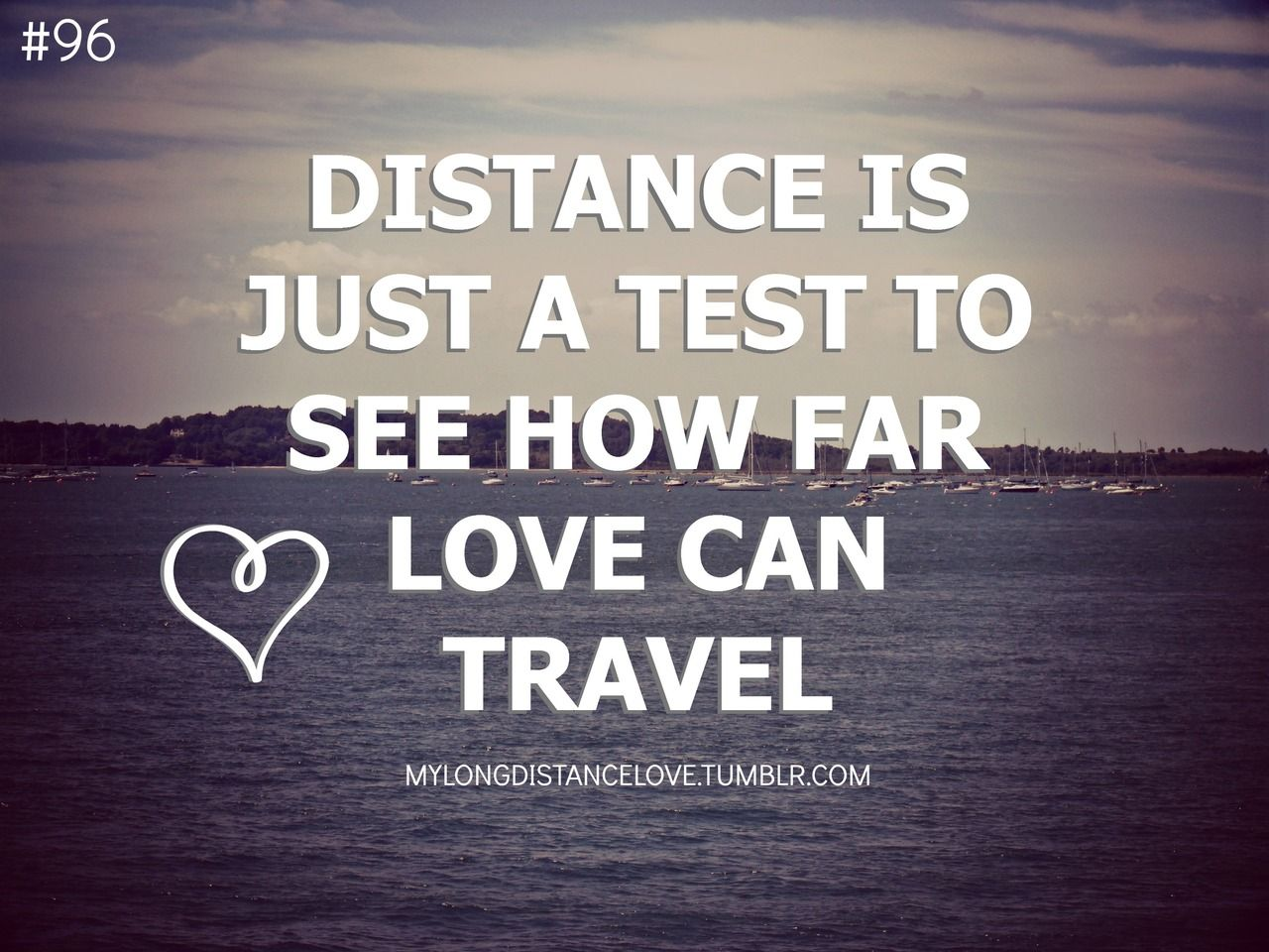 96 Distance Is Just A Test To See How Far Love Can Travel Art
