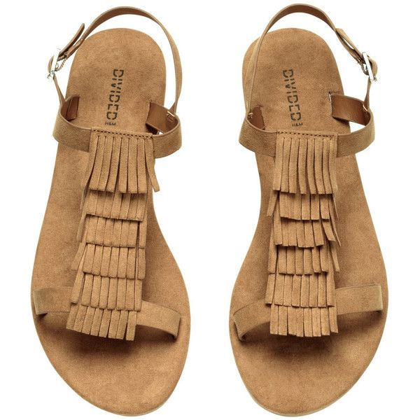 44099ccce H M Sandals with fringes ( 14) ❤ liked on Polyvore featuring shoes ...