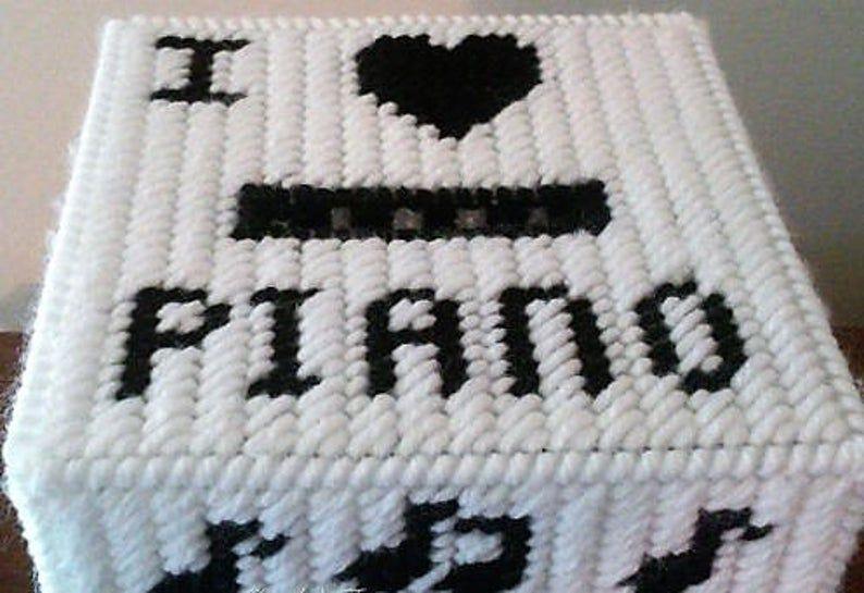 I love piano boutique size tissue box cover baby grand