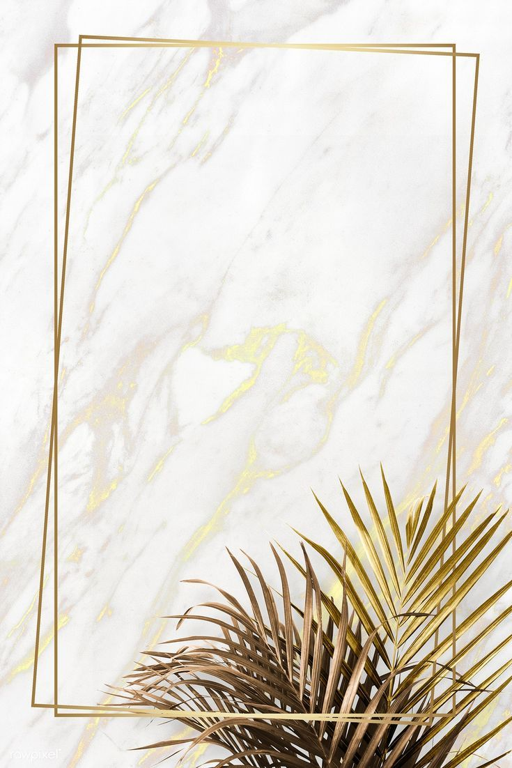 Rectangle Golden Frame On A Marble Background Premium Image By Rawpixel Com Framed Wallpaper Flower Background Wallpaper Marble Wallpaper Phone