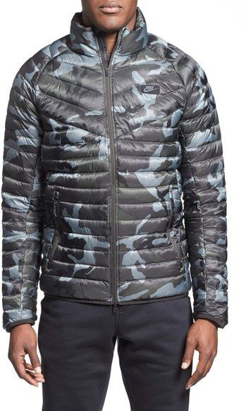 2ef1adf8cd2c Nike  Guild 550  Camo Print Quilted Down Jacket