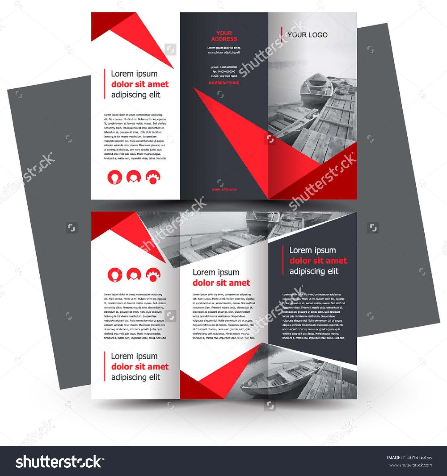 Brochure Design Brochure Template Creative TriFold Trend