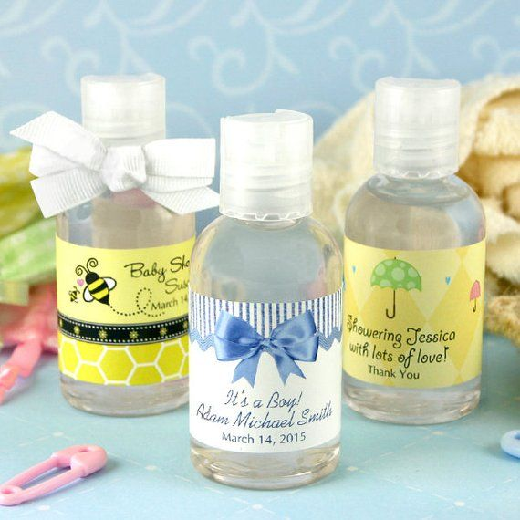 Hand Sanitizer Baby Shower Favor Personalized Favor 1 Oz Bottle