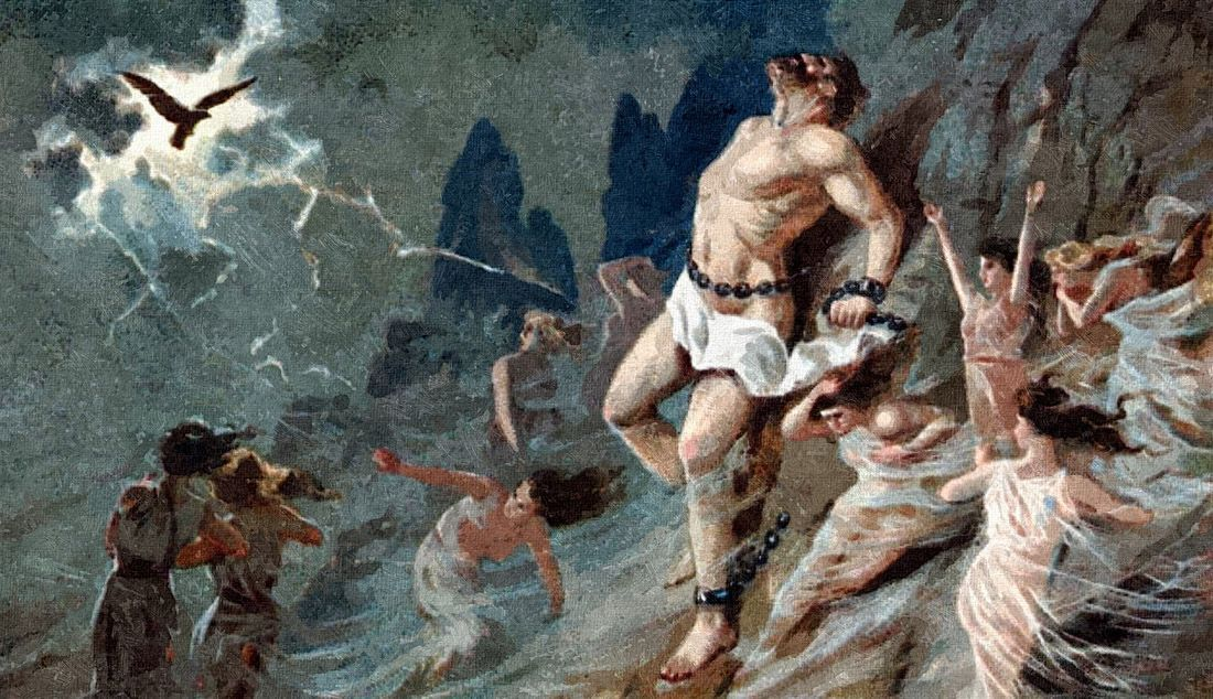 zeus actions in prometheus bound Along with a chorus of singers to explain the action as with aeschylus' prometheus bound in a fit of anger, zeus ordered prometheus chained to a remote.