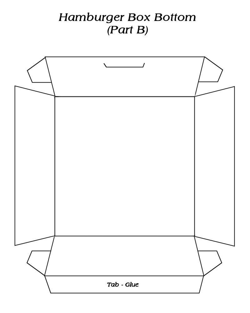 Hambuger Box 2 Template Free To Use Hamburger Box In 2018