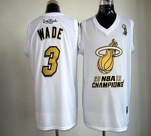 heat 3 dwyane wade white majestic 2012 nba champions stitched nba jersey