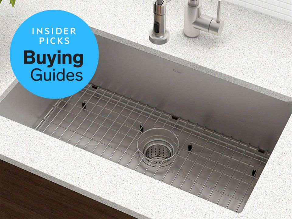The Best Kitchen Sink Of 2019 Kraus Standart Pro 30 Inch Single Bowl Business Insider Drop In Kitchen Sink Best Kitchen Sinks Sink