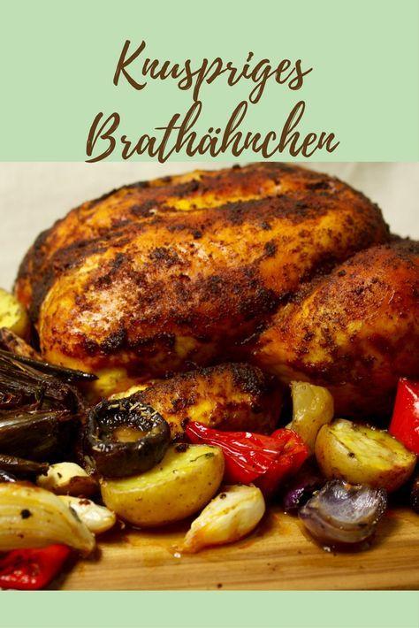 Knuspriges Brathähnchen mit Ofengemüse - Friedas Kitchen on my mind