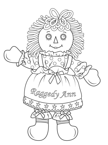 Raggedy Ann Doll coloring page from Rag Dolls category. Select from ...