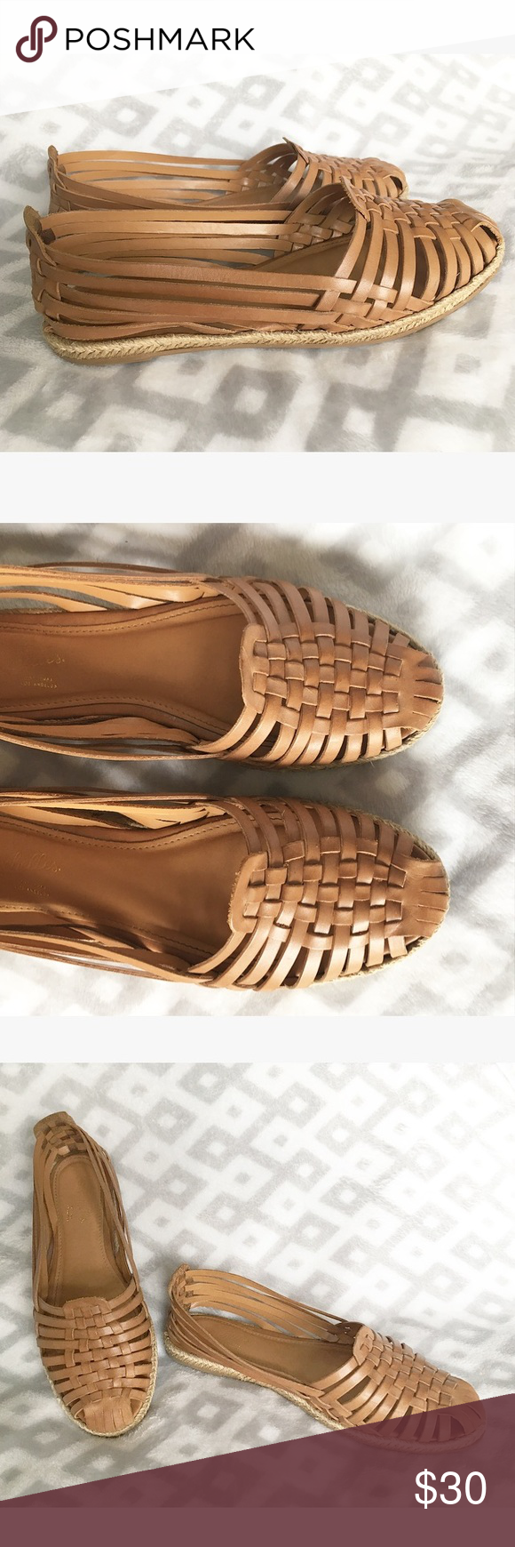 5dae9638972a Seychelles Huarache Sandals Huarache sandal flats by Seychelles Woven  espadrille accent around the sole Woven tanned