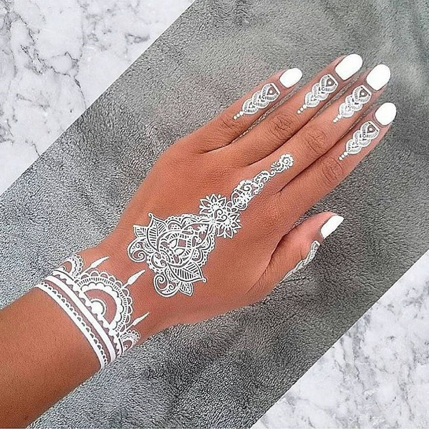 White Ink Henna: Temporary White Henna Tattoos Made With Ivory Ink The