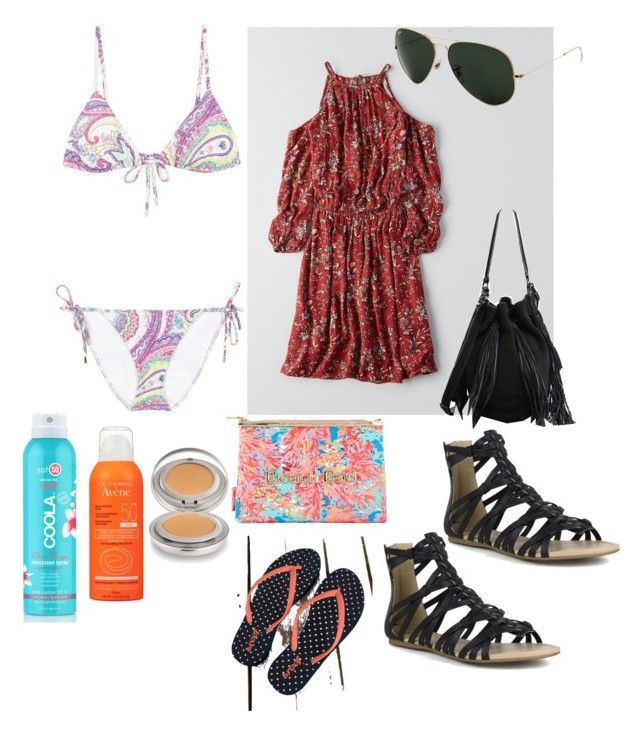 """""""Tuesday niagara"""" by alegaravito on Polyvore featuring moda, American Eagle Outfitters, Mark & Maddux, Loeffler Randall, Ray-Ban, Etro, COOLA Suncare, Avène, Laura Mercier y Lilly Pulitzer"""
