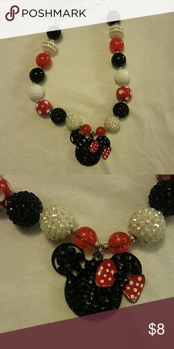 c76b8fd829934 Minnie mouse necklace by Kenzies boutique Red, black and white ...
